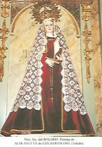 POSTAL 54273: Virgen del Rosario. Aldeanueva de San Bartolome Toledo