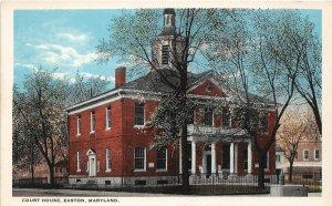 F59/ Easton Maryland Postcard c1910 Court House Building