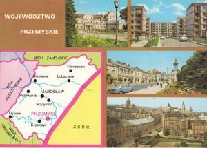 Wojewodztwo Przemyskie Poland Polish Map Postcard