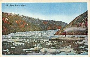 TAKU GLACIER ALASKA~STEAMER SHIP-ICEBERGS-HHT POSTCARD