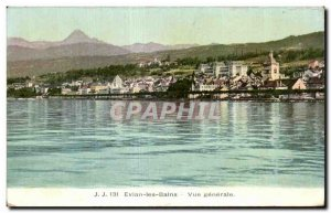 Evian les Bains - Vue Generale - Old Postcard