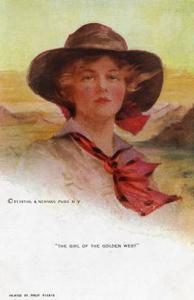 Girl of the Golden West    Artist Signed: Philip Boileau