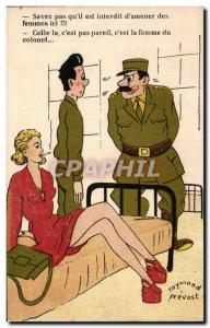 Old Postcard Militaria Humor Illustrator know that you & # 39He is prohibited...