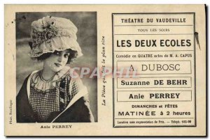 Postcard Ancient Theater of Vaudeville The Two Schools Anie Perrey Dubosc Suz...