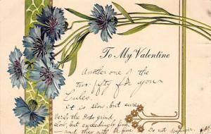 Damaged Valentines Day Postcard
