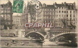 Postcard Old Lyon Gulls Pont Lafayette and Place des Cordeliers