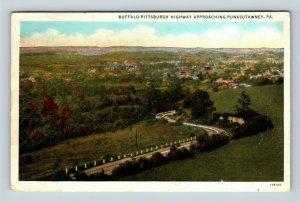 Punxsutawney PA Scenic Buffalo Pittsburgh Road Vintage Pennsylvania Postcard