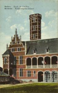 belgium, MECHELEN MALINES, Carillon School, Klokkenspeler-School (1910s)