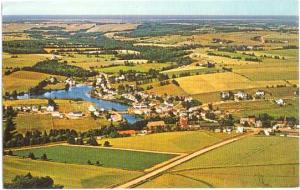 Air View of Hunter River, Prince Edward Island, Canada, 1968 Chrome