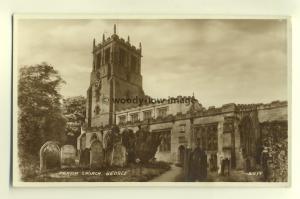 cu1374 - Parish Church , Bedale , Yorkshire - postcard