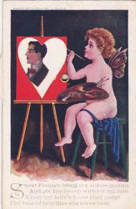 AS: H. Harmony, Sweet Painter, Painting, VALENTINE, 1907