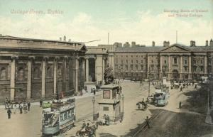 ireland, DUBLIN, College Green, TRAM (1910s)