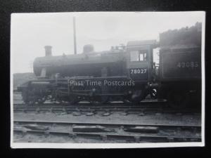 45A - No.78027 Old Steam Locomotive Real Photo 8cm x 6cm 140515