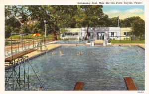 Seguin Texas~Max Starcke Park Swings~Swimming Pool~Tall Turnstile~High Dive~1939