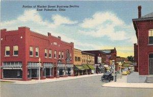 East Palestine Ohio 1940s Postcard Market Street Business Section Motorola Shop