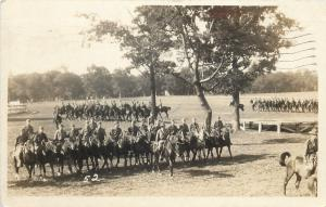 Military~Fort Sheridan~Cavalry~Arrow Points to Me~Allen Fiske to Mrs~1928 RPPC