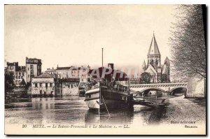 Old Postcard Metz Boat Promenade Madelon