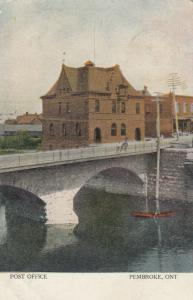 PEMBROKE, Ontario, Canada, PU-1905; Post Office, Bridge