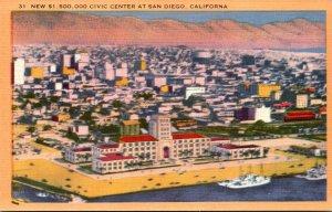 California San Diego New $ 1,500,000 Civic Center