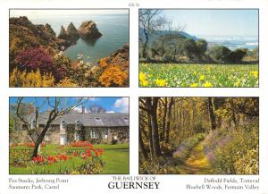 Guernsey Postcard Channel Islands Multi View by D.R Photography Ltd P13