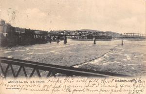 Augusta Maine~Railroad Bridge Over the Kennebec River~TUCK Postcard c1906