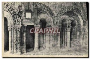 Old Postcard Angers Prefecture Romanesque arches discoveries in 1836