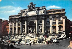 Italy Old Vintage Antique Post Card Fountain of Trevi Roma 1972