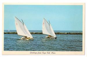Greetings Sailboats Cape Cod Nantucket Massachusetts MA