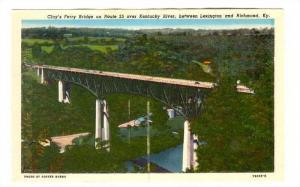 Clay;s Ferry Bridge on Route 25 over Kentucky River, between Lexington and Ri...