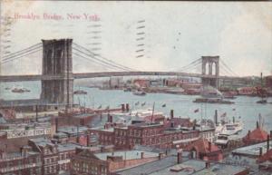 New York City The Brooklyn Bridge 1913