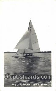 White Bear Lake, Minnesota, MN USA Real Photo - Sail Boat Postcard Post Card ...