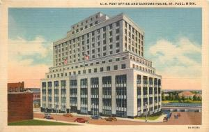 St Paul Minnesota~St Paul News Agency~US Post Office And Costoms House~40s~PC