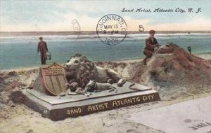 New Jersey Atlantic City Sand Artist 1908