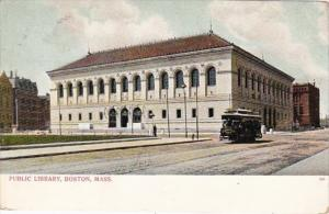 Massachusetts Boston Trolley At The Public Library