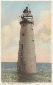 BOSTON , Massachusetts , 1910 ;  Minot's Ledge Lighthouse