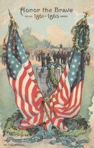 AS: Honor the Brave 1861-1865, War Memorial , American Flags, 1900-10s