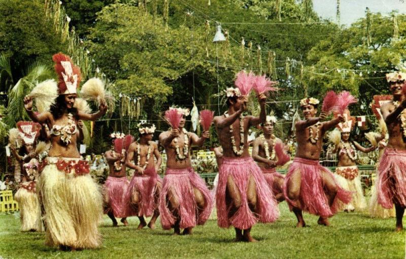 tahiti, Le Groupe Etoile Heiva pendant les fêtes du 14 Juillet, Native Dancers