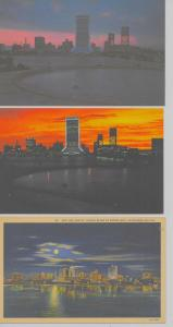 5 Jacksonville Florida aerial views at night some linen vintage pc Z21352