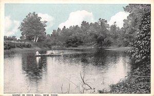 Water Scene Rock Hill, New York Postcard
