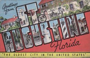 Large Letter Greetings ,  ST. AUGUSTINE  , Florida , PU-1954