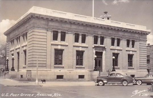 U S Post Office Rawlins Wyoming Real Photo