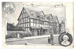 England  - One postcard  Shakespeare's Birthplace posted 1904 #2579