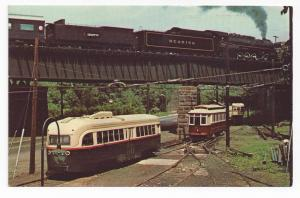 Streetcar Postcard Baltimore Reading Steam Train Trolleys