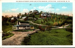 West Virginia Huntington Ritter Park Old Revolutionary House and Ritter Mansi...