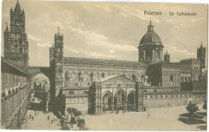Italy, Palermo, La Cattedrale, early 1900s unused Postcard