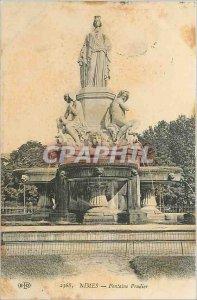 Old Postcard NIMES La Fontaine Pradier