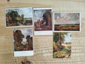 JOHN CONSTABLE.VTG LOT OF 5 ART POSTCARDS*P17