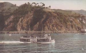 California Catalina Island Glass Bottom Boat Over Submarine Gardens Avalon Ha...
