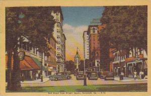 Bull Street from Wright Square, Savannah, Georgia, PU-1948