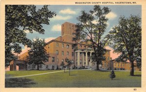 Hagerstown Maryland 1940 Postcard Washington County Hospital